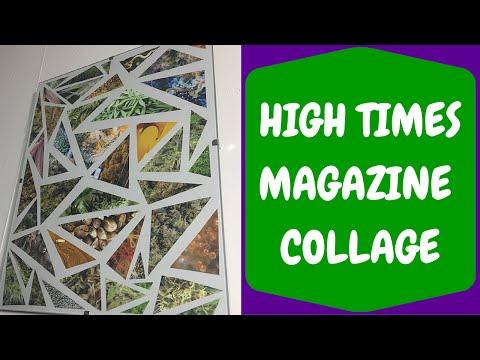 DIY High Times Magazine Collage Wall Art