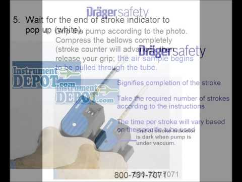 How to use Draeger detector tubes w/ the Drager Accuro pump