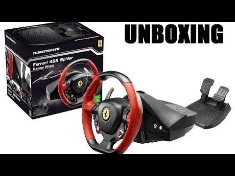 volant xbox one ferrari 458 spider unboxing