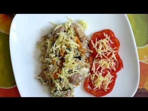 Каша рисова с мясом.