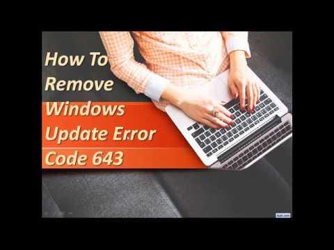 What is windows update error code 643 windows update failed 646