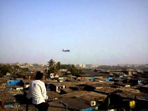 Plane landing on Sahar International Airport