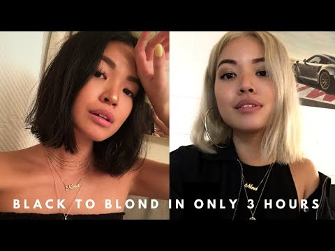 BLEACHING MY HAIR BLACK TO BLONDE IN 3 HOURS! | neens