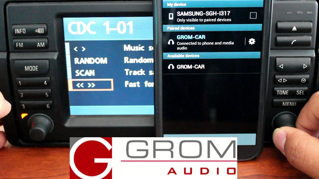 GROM Bluetooth Reset on BMW Navigation Stereo, Samsung Note 2