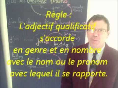 Cours vidéo gratuit de français :  Comment accorder les adjectifs qualificatifs