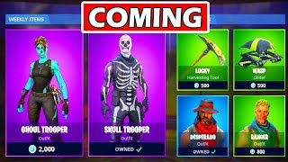 SKULL TROOPER - GHOUL TROOPER DE RETOUR À LA BOUTIQUE! SKINS DE RARE FORTNITE!