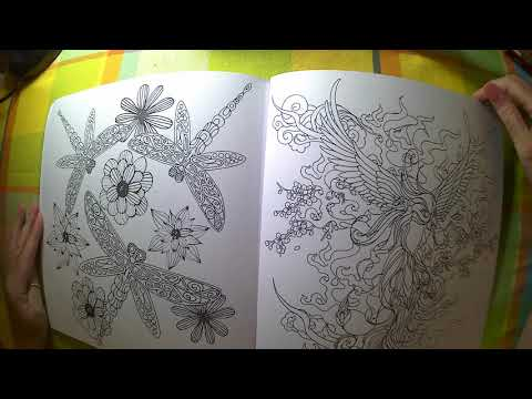 Adult Coloring Book Flip Throughs of- WAMA Nature & Fantasy,  WAMA Magical Forest
