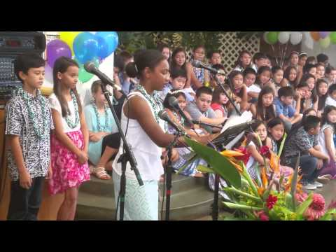Noelani's 5th Grade Graduation Speech - Noelani Elementary School, Manoa, Honolulu, Hawai'i