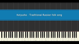 Katyusha - Traditional Russian folk song (Piano Tutorial)