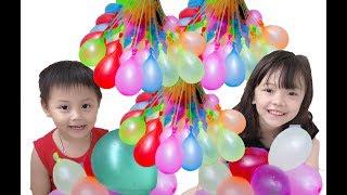 Bé Tôm cùng chị chơi bóng nước -  Baby TÔm and her sister play water polo
