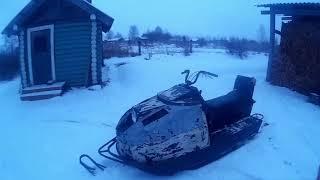 Виганяю снігохід!