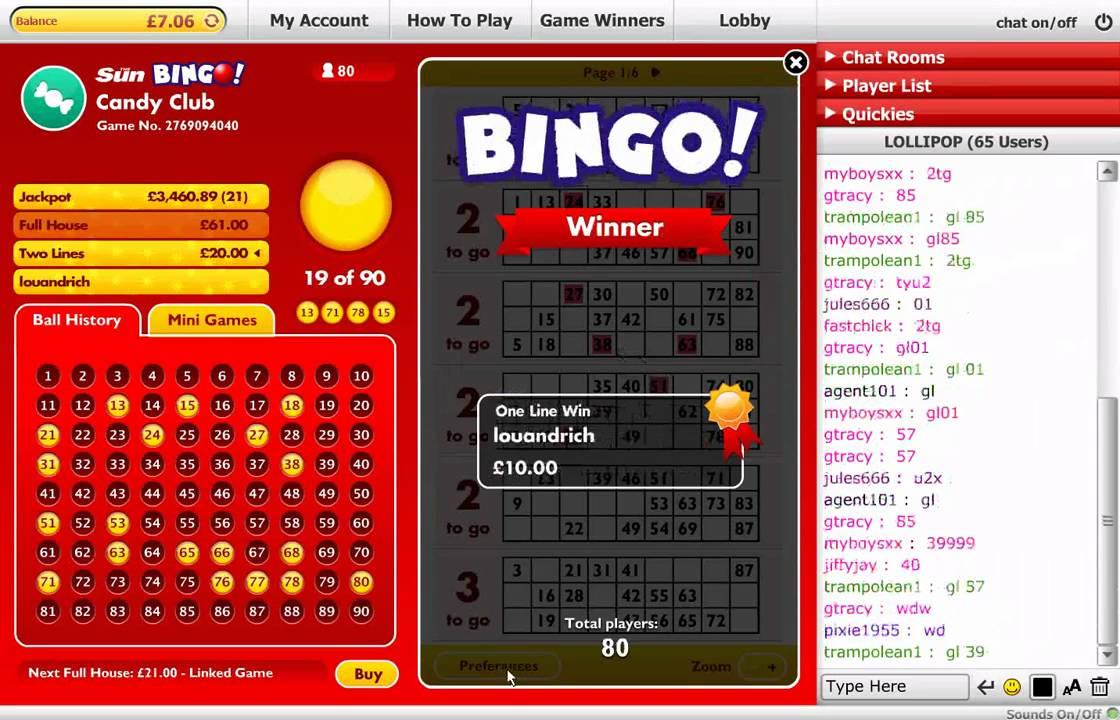 Play sun bingo