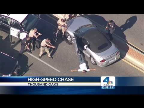 High Speed Chase, Double Pit Maneuver, Thousand Oaks California