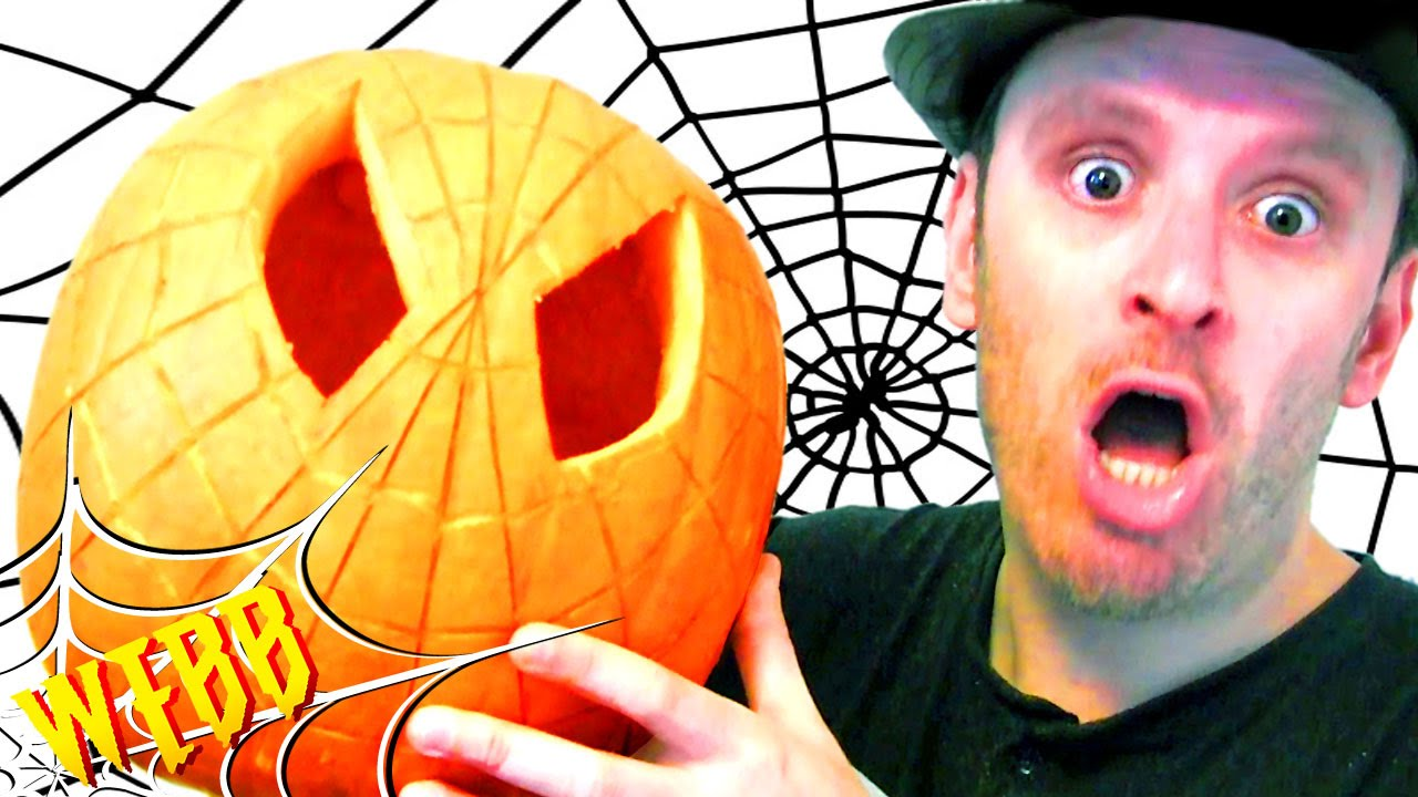Carving A Spider Man Pumpkin Halloween Customizing Special Youtube