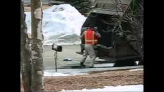 Angry Garbage Man Prank - Bin Man Destroys Mailbox!