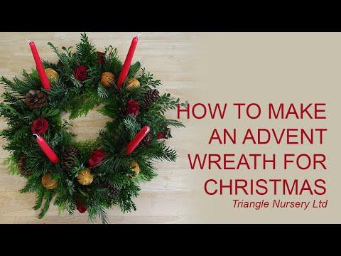 diy how to make an advent wreath youtube