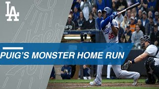 Yasiel Puig crushes a key three-run homer in Game 7