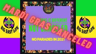 Big Easy Life looks at the 13 (soon to be 14) times Mardi Gras has been canceled.