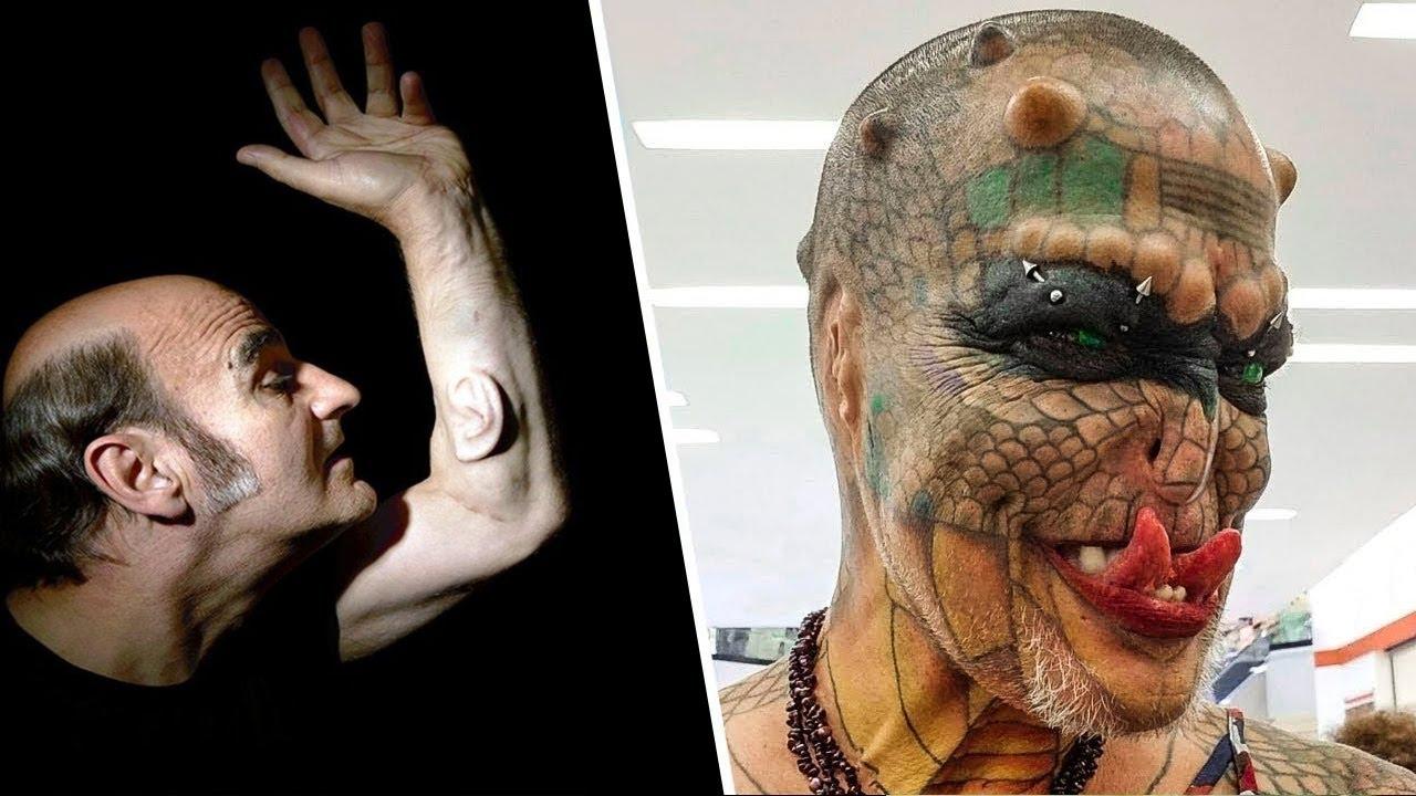 رجل زرع أذن في يديه والاخر حول نفسه من إنسان الى وحش مرعب هذا ما يحدث عندما يخرج الهوس عن السيطرة Youtube