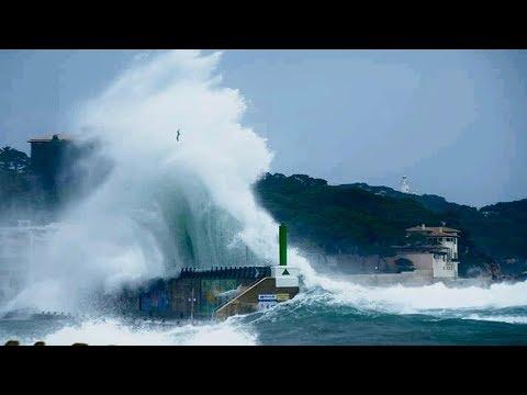 Riesenwellen Mallorca Cala Ratjada 2019 BIG WAVES