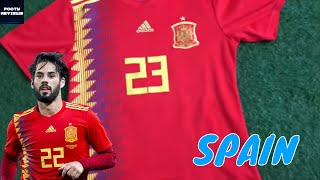 DHgate Spain 2018 WORLD CUP HOME JERSEY ... 5fcb0ed90