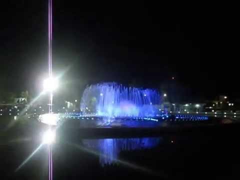 Musical Fountain at Perdana Park, KK, Sabah 2012