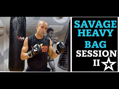 33 Min Savage Boxing Heavy Bag Workout