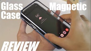 REVIEW: Magnetic Adsorption Glass Phone Case + Smart Notification Folio Window Case (Samsung)