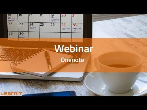 OneNote: digitaal notitieblok voor het vastleggen en delen van informatie. Webinar Learnit Training