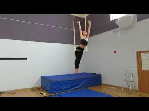 Titanium/Girl On Fire Trapeze Routine
