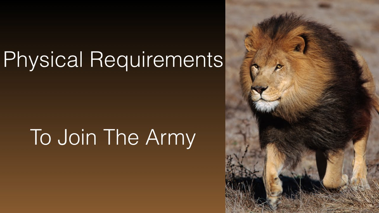 Physical Requirements To Join The Army