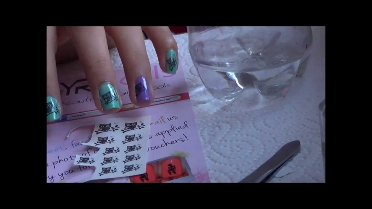 How to Apply Water Transfer Nail Art Stickers Decal - YouTube