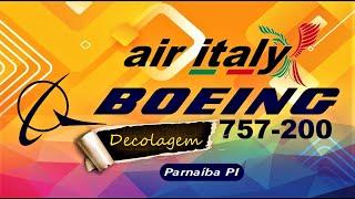 Decolagem do B757-200 da Air Italy de Parnaíba PI