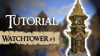 Minecraft Tutorial: How to build a medieval tower (lighthouse design) (Version 3)