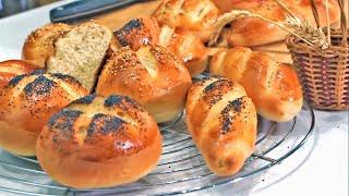 خبز الحليب بطريقة احترافية الشيف نادية  |  Petits pains au lait faciles