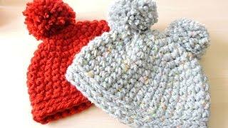 Repeat youtube video Gorro de ganchillo fácil punto bajo - Easy Crochet Hat Single Crochet
