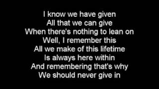 Crossfade - No Giving Up