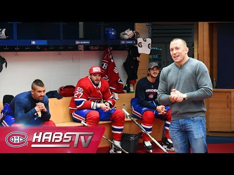 Georges St-Pierre gives the Habs a pep talk