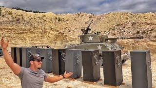 TANK vs GUN SAFES!!!