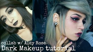 DARK EMO MAKEUP TUTORIAL | Collab with Aley Rose | Kylie The Jellyfish