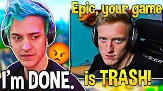 Ninja & Tfue *FED UP* and DONE playing Fortnite after most UNPLAYABLE Bug... (Fortnite Moments)