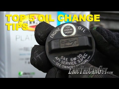 Top 5 Oil Change Tips -EricTheCarGuy