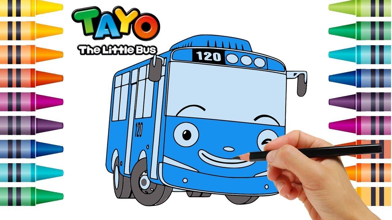 TOYO 🎨 Menggambar Dan Mewarnai Tayo Si Bus Kecil Nursery Rhymes Finger Family Song