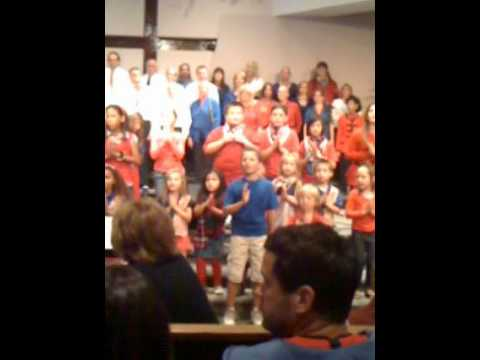 Travis Adams singing at Desert Chapel Christian School for the veterans for Veteran's Day. .mov