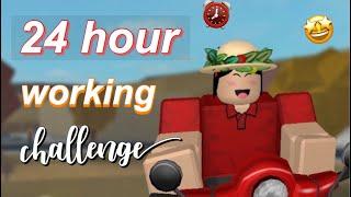 24 HOUR ROBLOX BLOXBURG CHALLENGE | WORKING 24 HOUR IN GAME