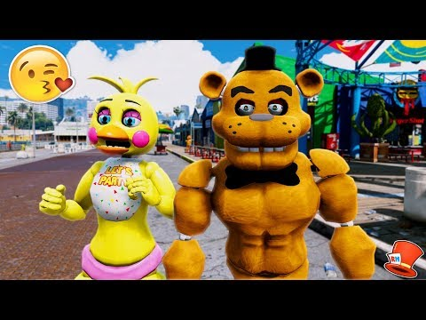 BUFF FREDDY FALLS IN LOVE WITH TOY CHICA! (GTA 5 Mods For Kids FNAF RedHatter)