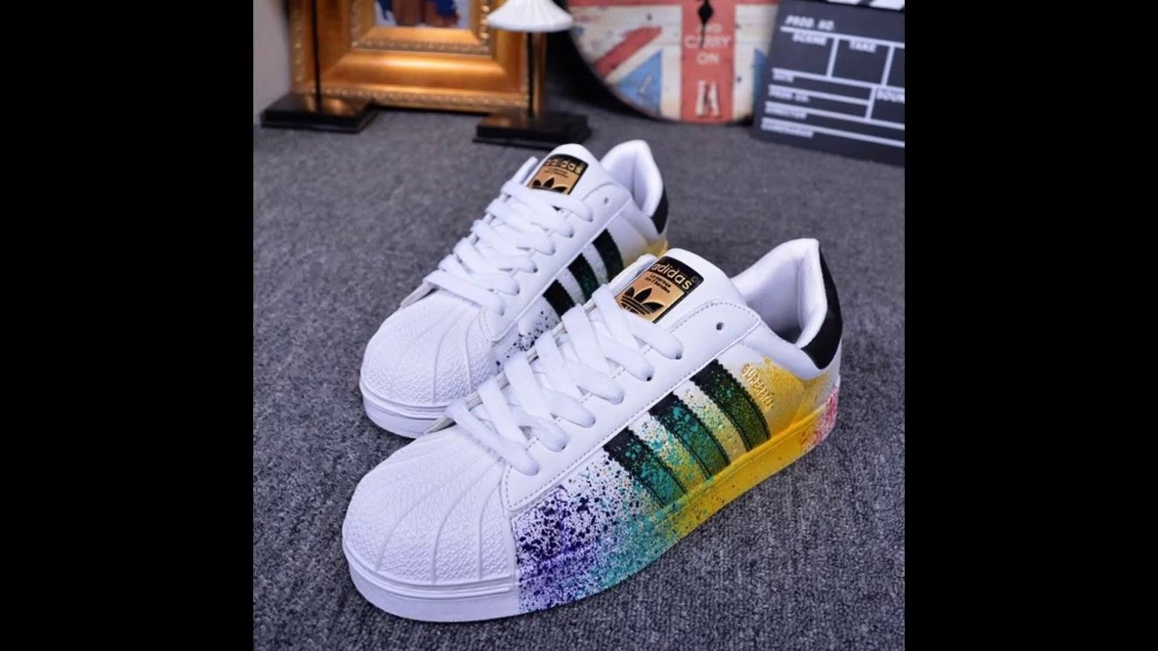 superstar adidas pintura