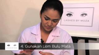 LASHES BY MOZA   TUTORIAL VIDEO