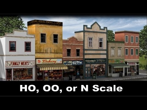 Model Trains | How to Make a Scale Model Street Scene for HO,OO, or N Trains