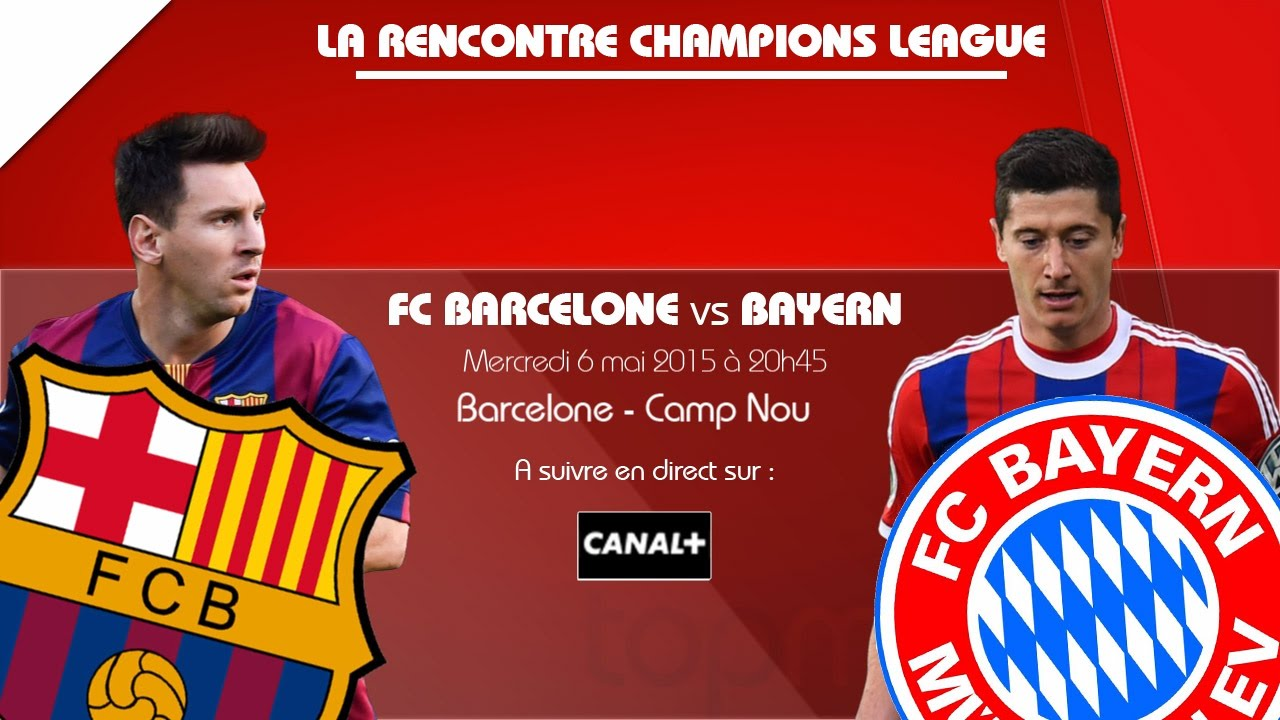 Score Barcelone Bayern Munich en direct